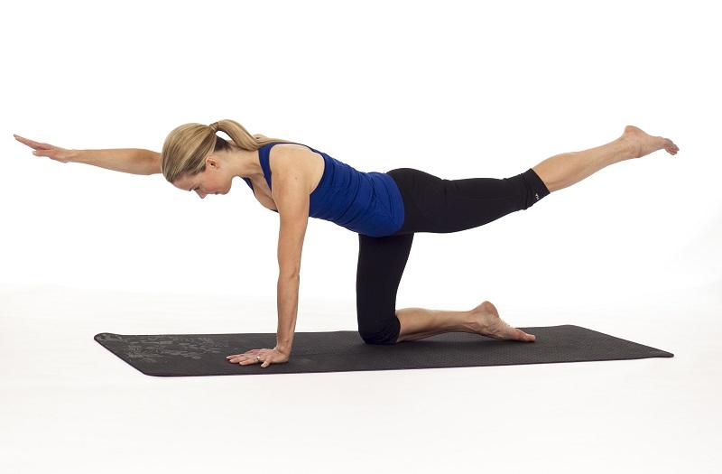 Bird Dog pose, esercizio per rinforzare i muscoli lombari e alleviare il dolore