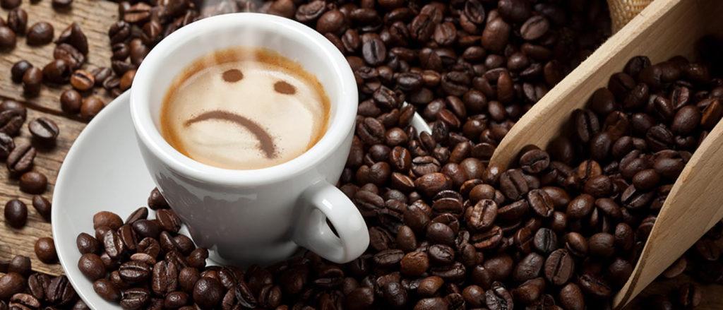 Disagi delle intolleranze alimentari al caffè